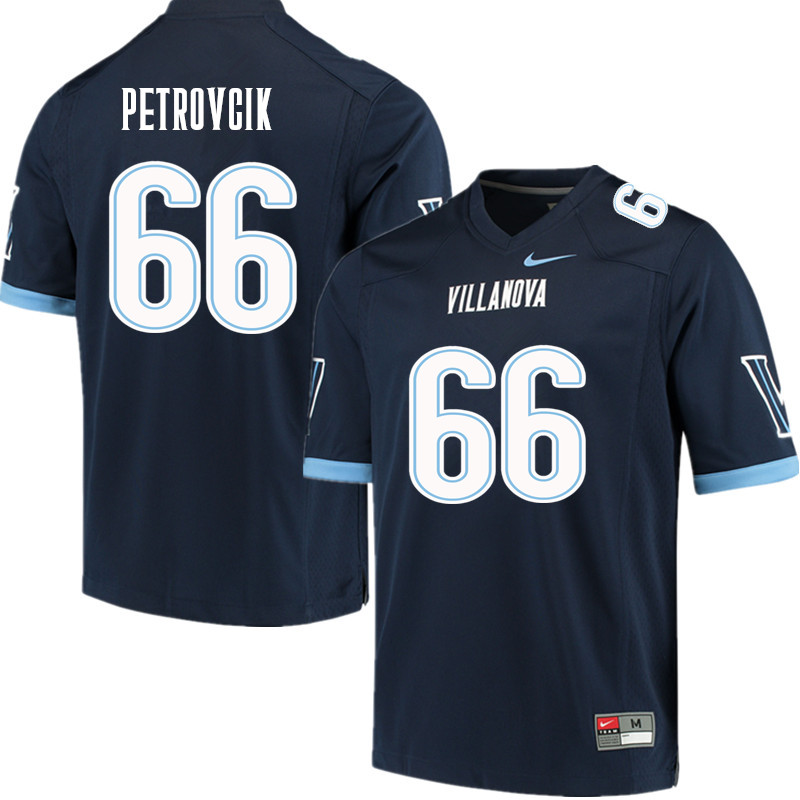 Men #66 James Petrovcik Villanova Wildcats College Football Jerseys Sale-Navy