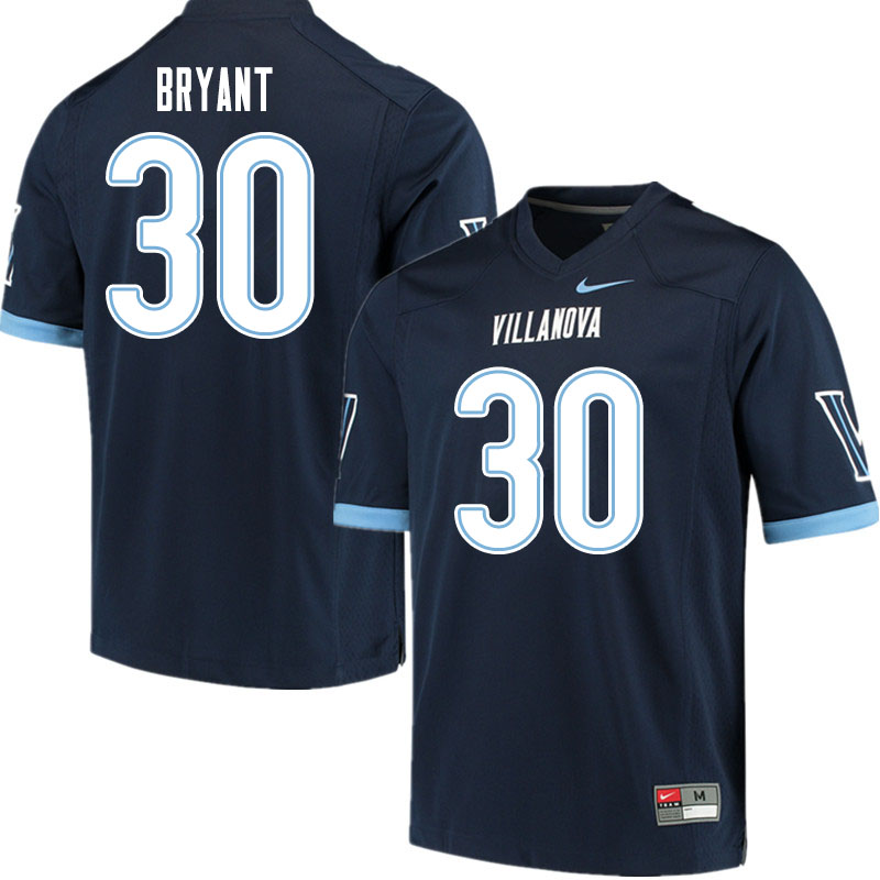 Men #30 Dapree Bryant Villanova Wildcats College Football Jerseys Sale-Navy