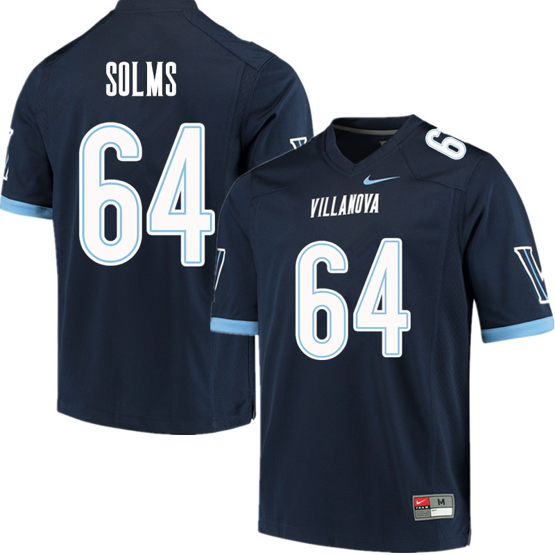 Men #64 Billy Solms Villanova Wildcats College Football Jerseys Sale-Navy