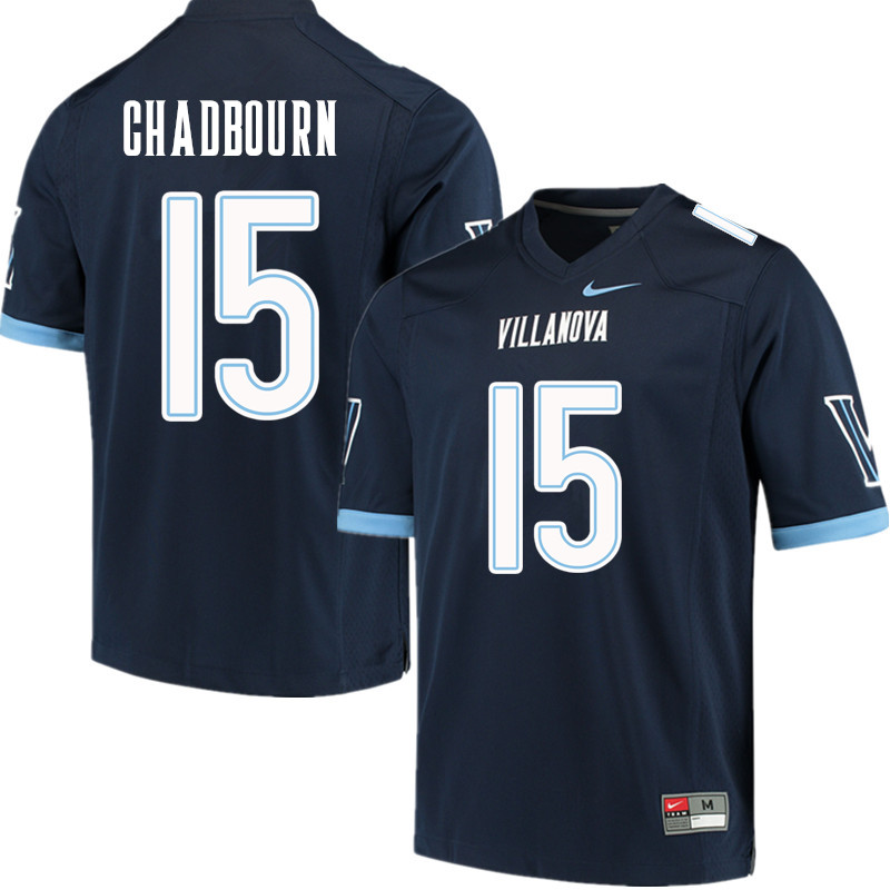 Men #15 Brandon Chadbourn Villanova Wildcats College Football Jerseys Sale-Navy