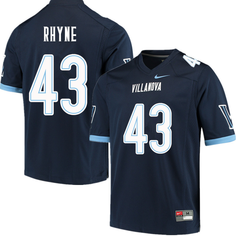 Men #43 Forrest Rhyne Villanova Wildcats College Football Jerseys Sale-Navy