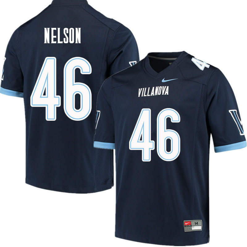 Men #46 Jared Nelson Villanova Wildcats College Football Jerseys Sale-Navy