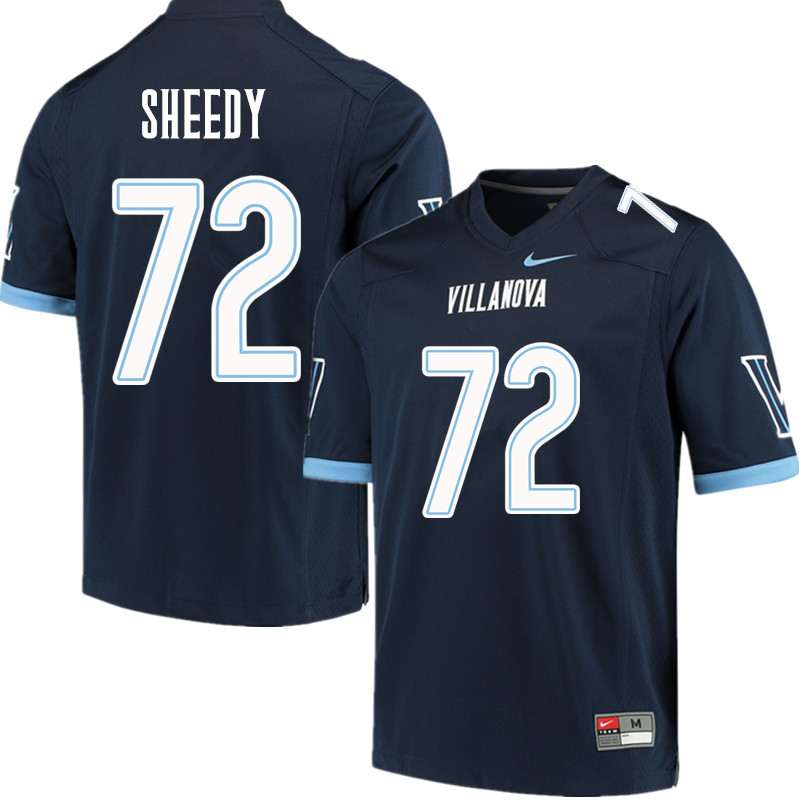 Men #72 Keegan Sheedy Villanova Wildcats College Football Jerseys Sale-Navy