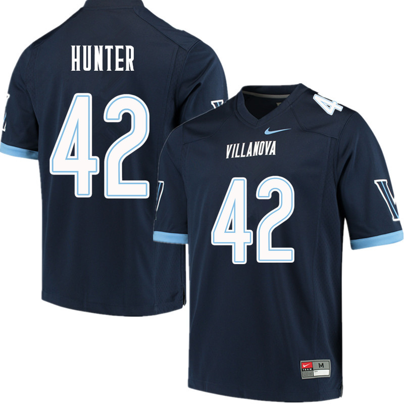 Men #42 Keeling Hunter Villanova Wildcats College Football Jerseys Sale-Navy