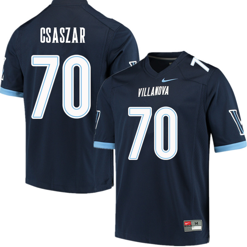 Men #70 Louie Csaszar Villanova Wildcats College Football Jerseys Sale-Navy