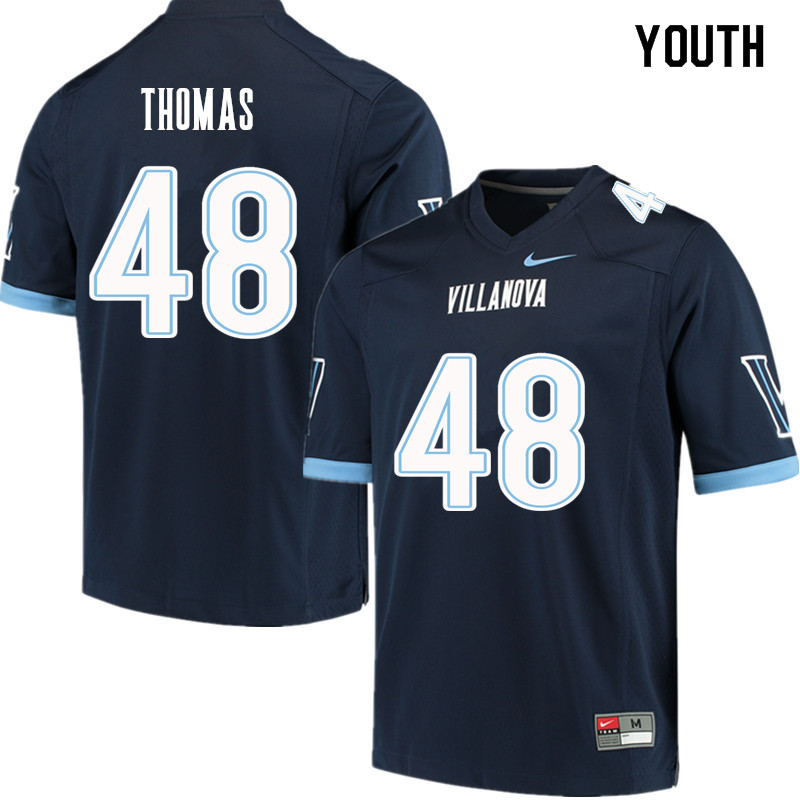 Youth #48 Owen Thomas Villanova Wildcats College Football Jerseys Sale-Navy