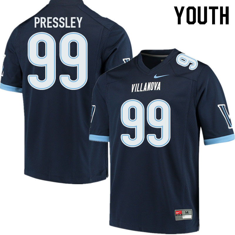 Youth #99 CJ Pressley Villanova Wildcats College Football Jerseys Sale-Navy