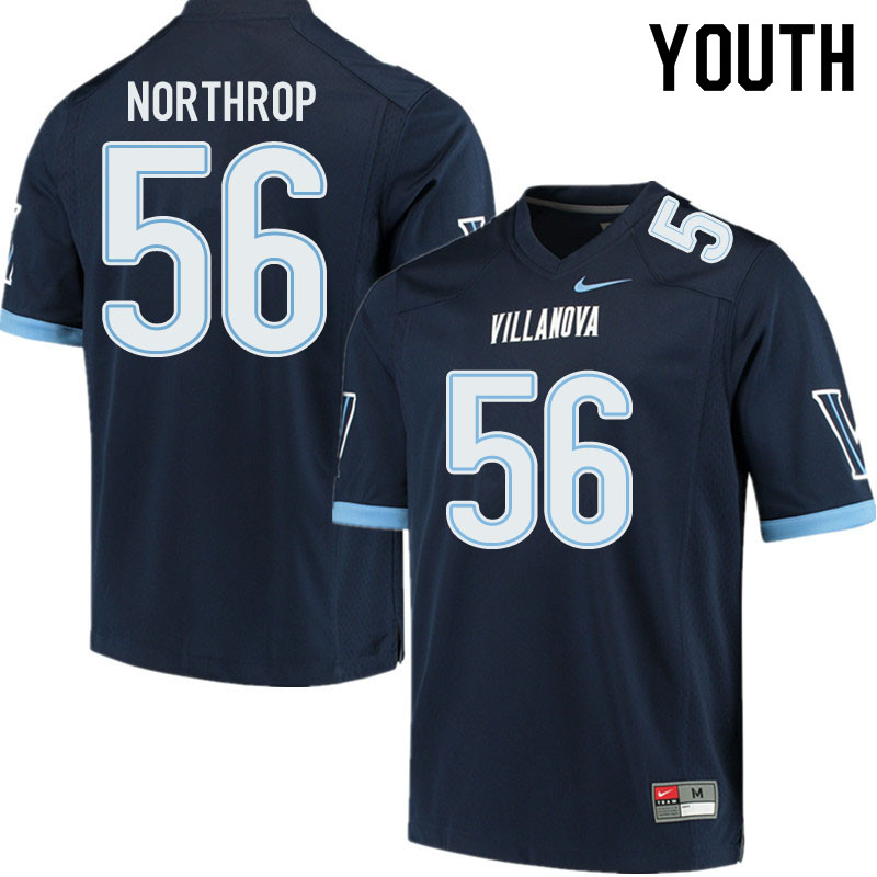 Youth #56 Jake Northrop Villanova Wildcats College Football Jerseys Sale-Navy