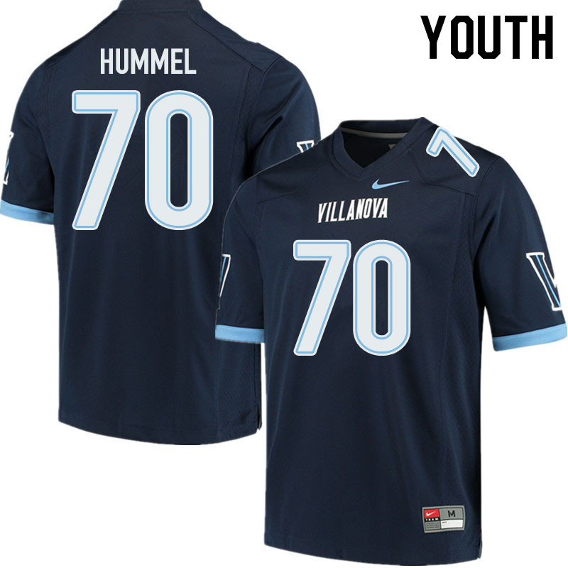 Youth #70 Wyatt Hummel Villanova Wildcats College Football Jerseys Sale-Navy