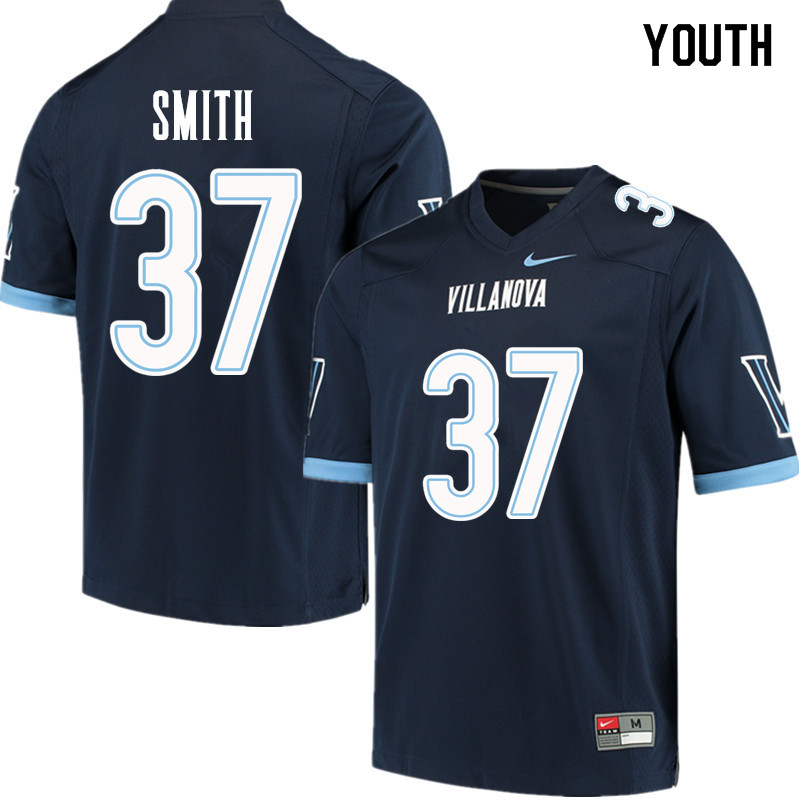 Youth #37 Andrew Smith Villanova Wildcats College Football Jerseys Sale-Navy