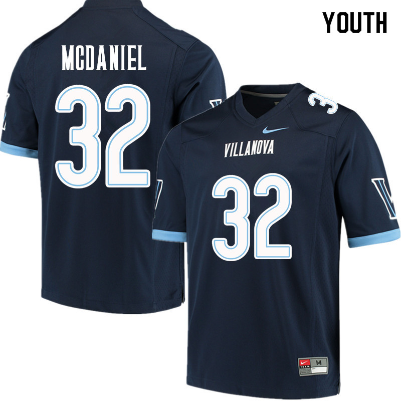 Youth #32 Darryl McDaniel Villanova Wildcats College Football Jerseys Sale-Navy