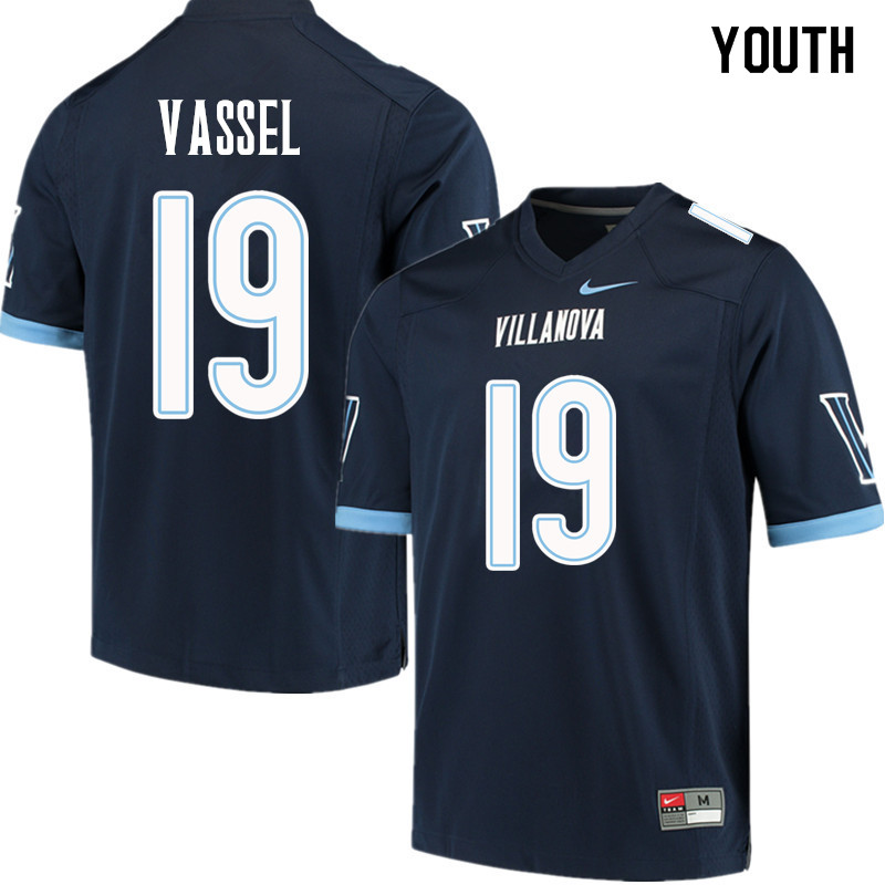 Youth #19 Terrell Vassel Villanova Wildcats College Football Jerseys Sale-Navy